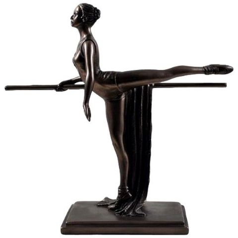 Cold Cast Bronze Ballerina Sculpture - Discipline